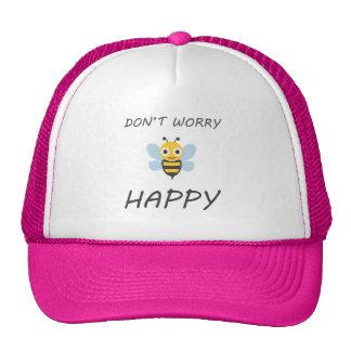 Don't worry bee happy with bee emoji cap