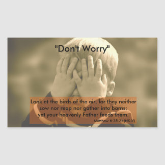 """""""Don't Worry"""" Stickers"""