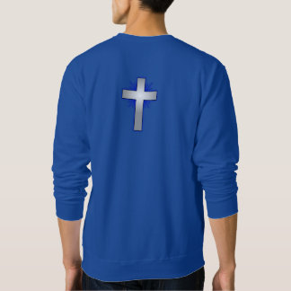 Don't Worry Sweatshirt w/Blue Flared Cross