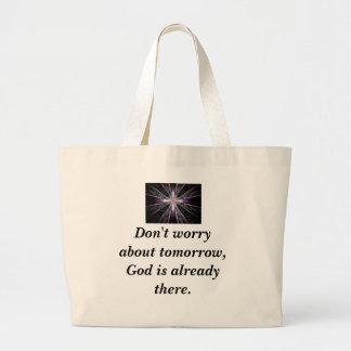Don't Worry Tote w/Feather cross