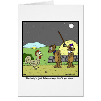 Don't you dare: Rooster Cartoon Card