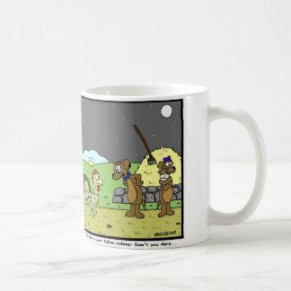 Don't you dare: Rooster Cartoon Coffee Mug