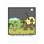 Don't you dare: Rooster Cartoon Postcard