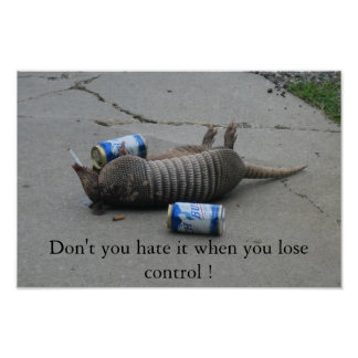 Don't you hate it when you lose control poster