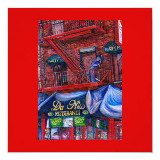 """Don't You Love Red Paint? New York City, New York 5.25"""" Square Invitation Card"""