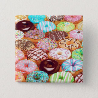 DONUT 15 CM SQUARE BADGE