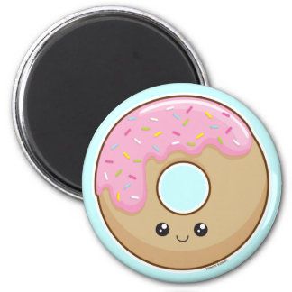 Donut 6 Cm Round Magnet