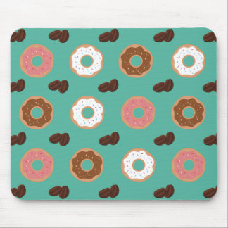 Donut and Coffee Beans Mouse Pad