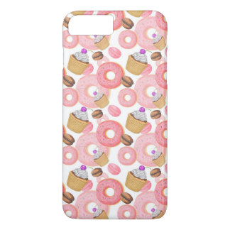 Donut and Cupcake Dessert Pattern iPhone 8 Plus/7 Plus Case