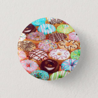 donut art design 3 cm round badge