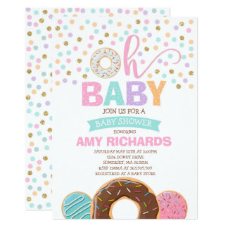 Donut Baby Shower Invitation Donut Sprinkle Shower