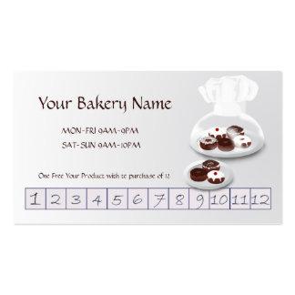 Donut Bakery Baker Shop Custom Customer Loyalty Pack Of Standard Business Cards