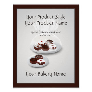 Donut Bakery Baker Shop Product Sign Poster