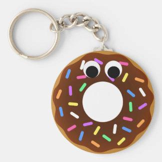 Donut Basic Round Button Key Ring