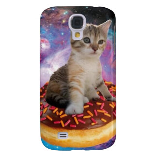 Donut cat-cat space-kitty-cute cats-pet-feline galaxy s4 case
