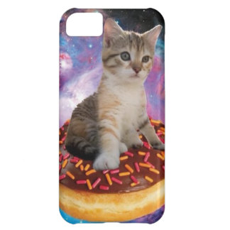Donut cat-cat space-kitty-cute cats-pet-feline iPhone 5C case