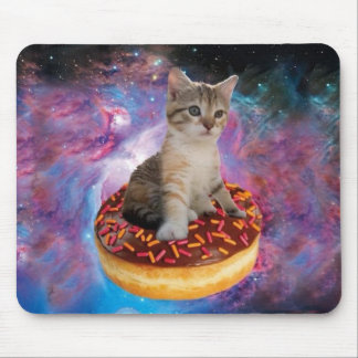 Donut cat-cat space-kitty-cute cats-pet-feline mouse pad