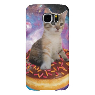Donut cat-cat space-kitty-cute cats-pet-feline samsung galaxy s6 cases