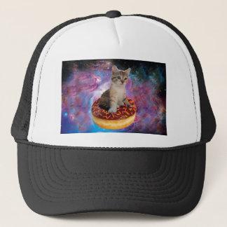 Donut cat-cat space-kitty-cute cats-pet-feline trucker hat