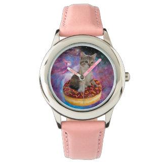 Donut cat-cat space-kitty-cute cats-pet-feline watch