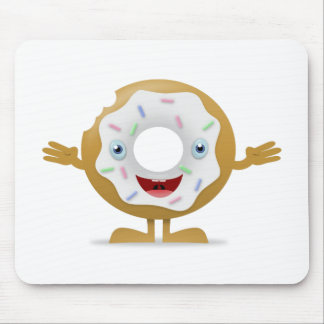 Donut Character Mouse Pad