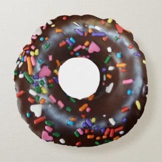 Donut Chocolate Sprinkles Round Cushion