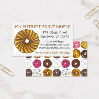 Donut Doughnut Shop Bakery Print Baking Donuts Business Card