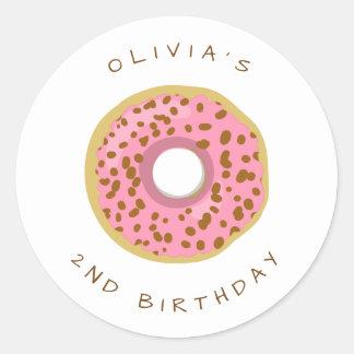 Donut Envelope seal sticker Birthday Girl Doughnut