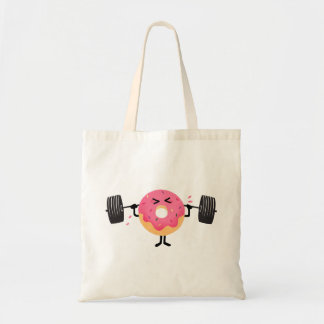 Donut Fitness Tote Bag