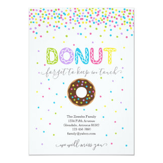 Donut Forget to Keep in Touch Address Announcement