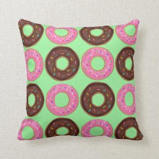 Donut Frenzy Throw Cushion