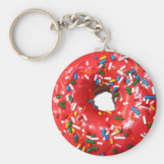 Donut Keychain Basic Round Button Keychain