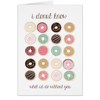 Donut Know Thank You Greeting Card