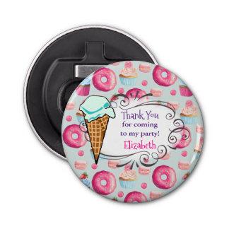 Donut Macaron Cupcake Birthday Favor Thank You
