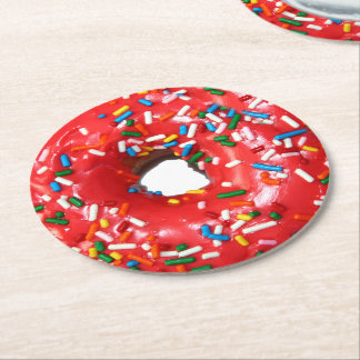 Donut Paper Drink Coasters