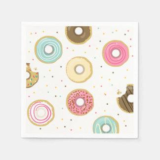 Donut Paper Napkin Pink Doughnut sweet Birthday