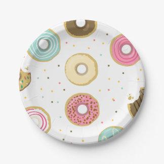 Donut Paper Plates Pink Birthday shower Doughnut