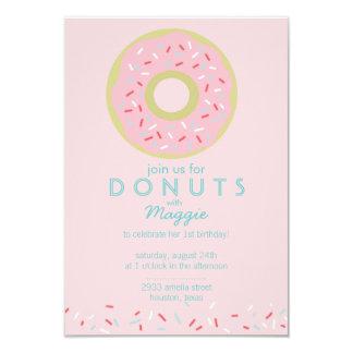 """Donut Party Invitation 3.5"""" X 5"""" Invitation Card"""