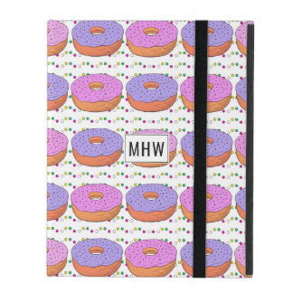 Donut Pattern custom monogram device covers