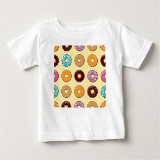 Donut Pattern on Yellow Baby T-Shirt