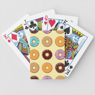 Donut Pattern on Yellow Bicycle Playing Cards