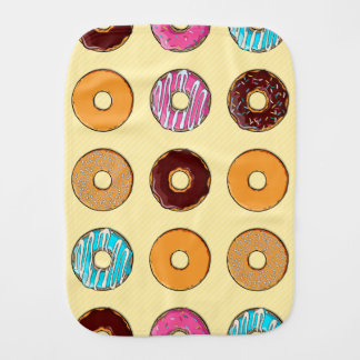 Donut Pattern on Yellow Burp Cloth