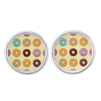 Donut Pattern on Yellow Cuff Links