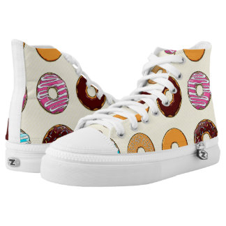 Donut Pattern on Yellow High Tops