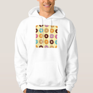 Donut Pattern on Yellow Hoodie