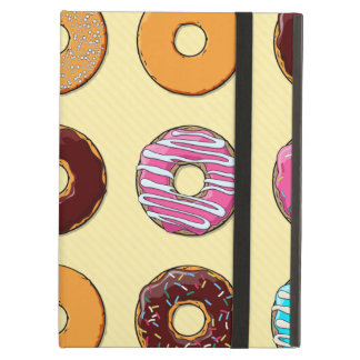 Donut Pattern on Yellow iPad Air Case