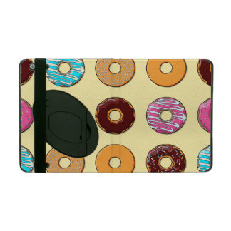 Donut Pattern on Yellow iPad Case