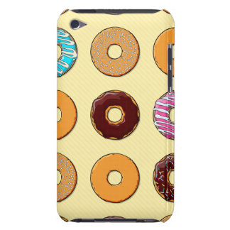 Donut Pattern on Yellow iPod Touch Case