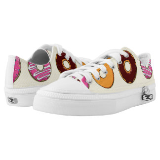 Donut Pattern on Yellow Low Tops