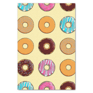 Donut Pattern on Yellow Tissue Paper